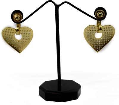 Bharat Sales Heart Shape In White Cubic Zirconia Alloy Earring Set