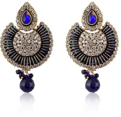 Jewels Guru pankha 5 Zircon Alloy Chandelier Earring