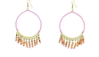 Zidox Pretty Pink Brass Dangle Earring