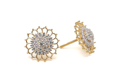 Ansh collection Princess Delight5 Cubic Zirconia Silver Stud Earring