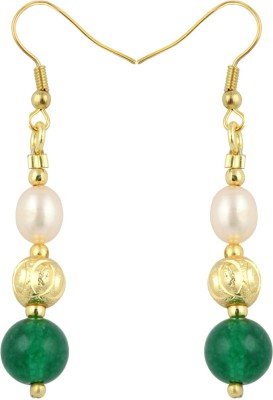 Pearlz Ocean Contingency Pearl, Jade Alloy Dangle Earring