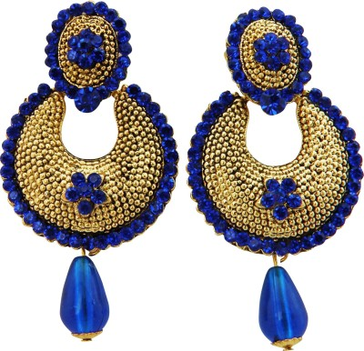 Shreyadzines Color sparkle Alloy Chandbali Earring