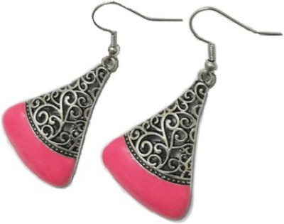 Bling-Bling Pink Triangle Casual Alloy Dangle Earring