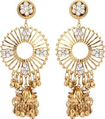 Fashionista Gurl Delectable Zircon Bronze Chandelier Earring