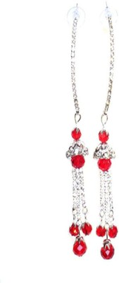 Achal Er4789 Crystal Sterling Silver Drop Earring