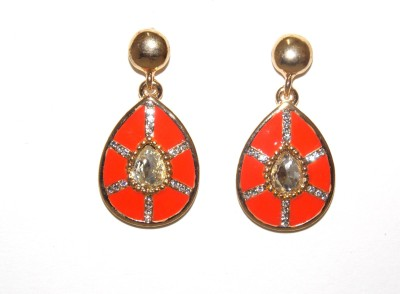 Red Gold jalwa19 Metal Drop Earring