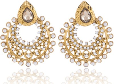 SHRIJEECREATIONS Cut Work Alloy Drop Earring