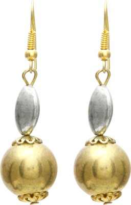 Galz4ever Silver & Gold Alloy Drop Earring