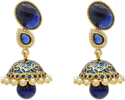 Hyderabad Jewels Onyx Copper Drop Earring