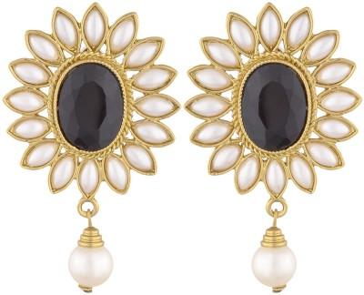 SB Fashions Floral earrings Brass Drop Earring