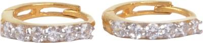 RD Sparkle 18 K Diamond Gold Hoop Earring