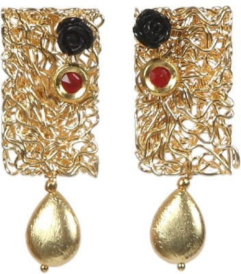 Envy Artificial Yellow Gold Drop Earring