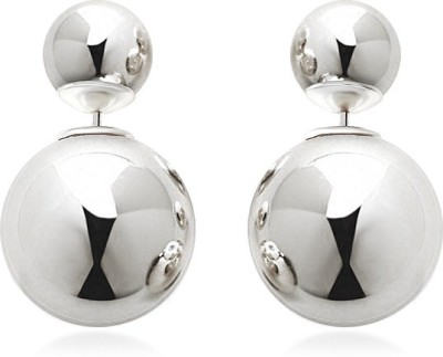 femnmas Double Sided Pearl Celebrity Alloy Stud Earring