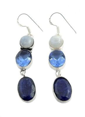 Miska Silver GERCC15-3248 Diamond Nickel Dangle Earring