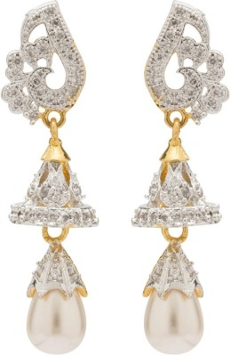 Rajwada Arts Fusion Style Brass Dangle Earring
