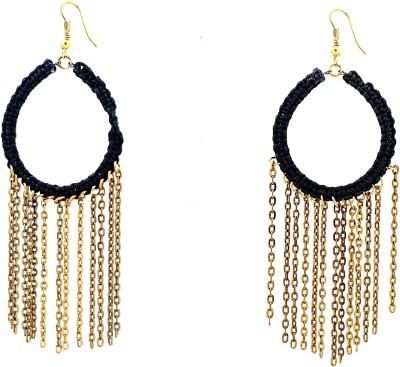 Zidox Black & Copper spark Brass Dangle Earring