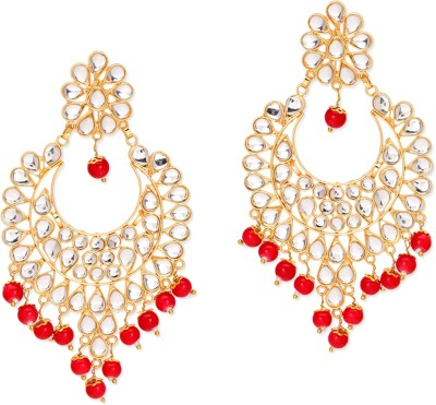 Pink Pitch Intricate Beads Alloy Dangle Earring