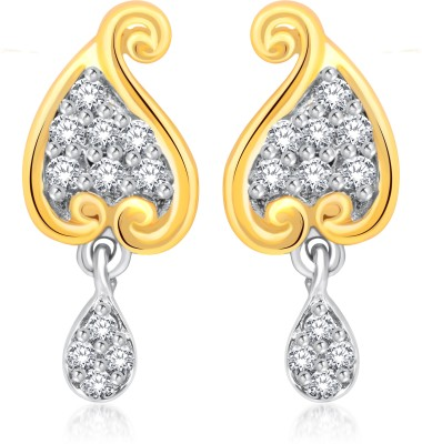 Classic Classy Gold And Rhodium Plated Earrings for Women [CJ1018ERG] Cubic Zirconia Alloy Drop Earring