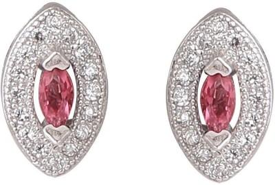 TUAN Trendy look Cubic Zirconia, Tourmaline Sterling Silver Stud Earring