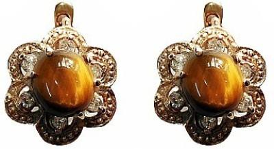 Blingxing Diamond Flower Metal, Alloy Stud Earring