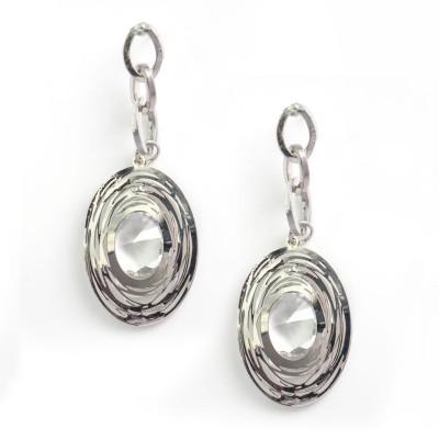 Zahra Jani ZJ Flat Rings Earrings Metal Drop Earring
