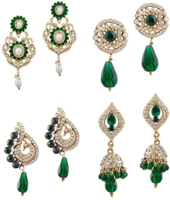 Buyclues RCCJ3408 Crystal Brass Earring Set