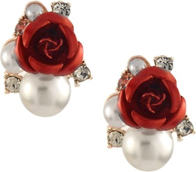 Aahaan Red_JC_01 Alloy Clip-on Earring
