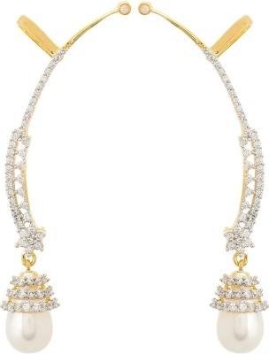 Apollodiamonds pearldropearring Cubic Zirconia Alloy Cuff Earring