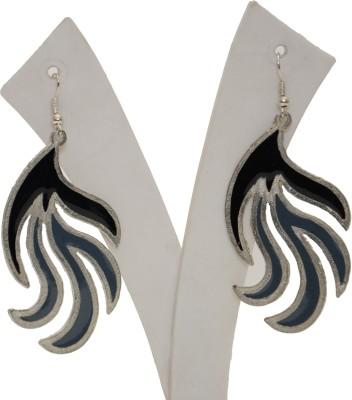Galz4ever Black birch two Sterling Metal Dangle Earring