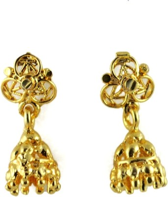 My Sara ear rings for girls fancy in golden color Brass Jhumki Earring