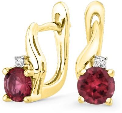 JPearls Valentines Special Diamond Sterling Silver Huggie Earring