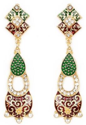Johareez Beautiful Cubic Zirconia Brass Drop Earring