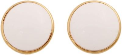 Gold & More White Tops Alloy Stud Earring