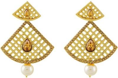 Art Nouveau Antique Design Plated Beautiful Brass Chandelier Earring