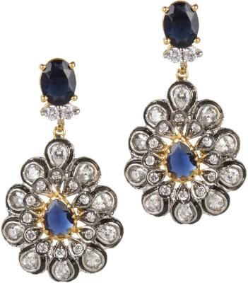 Mehtaphor Kashvi_2 Crystal Brass Chandelier Earring