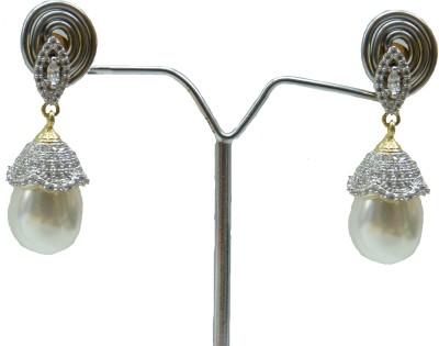 Aakhya EAR25 Diamond Rose Gold Drop Earring