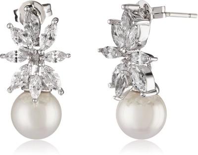 Shaze Gleaming Brass Drop Earring