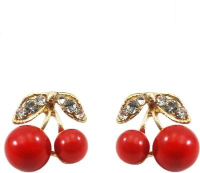 Hi Look Exquisite cherry stud Alloy Drop Earring