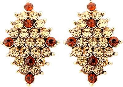 Just Women Diamond Shape Traditional Crystal Alloy Stud Earring