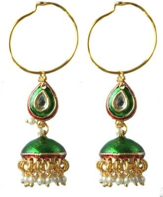 Aanjaneys Indian Ethnics Stylist Brass Jhumki Earring