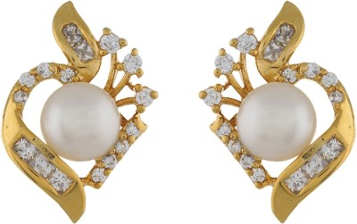 Classique DesignerJewellery Beautiful Pearl Alloy Stud Earring