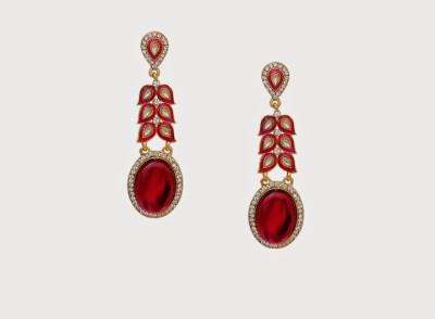 Oars Pink Spark Alloy, Acrylic Drop Earring