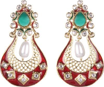 Tatva Fine Meenakari Alloy Chandbali Earring