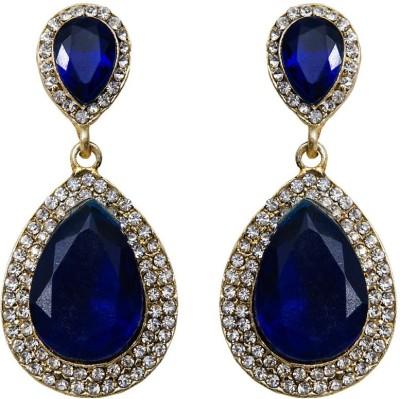 Grand Jewels Stone Blue Alloy Drop Earring