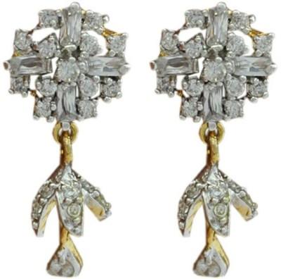 My Sara Buggettes Sparkle Cubic Zirconia Brass Jhumki Earring