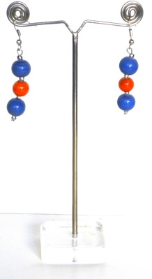 Deal And Gift Three Bead Resin Drop Earring
