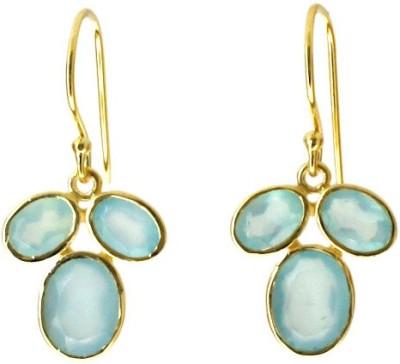 Aabhushan Aabhushajewels Chalcedony Sterling Silver Dangle Earring
