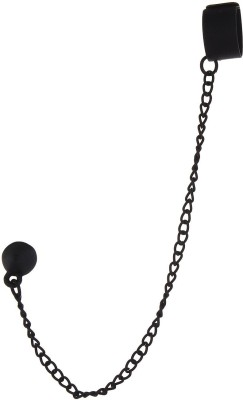 Fayon Weekend Party Black Cuff Style Long Chain Alloy Clip-on Earring