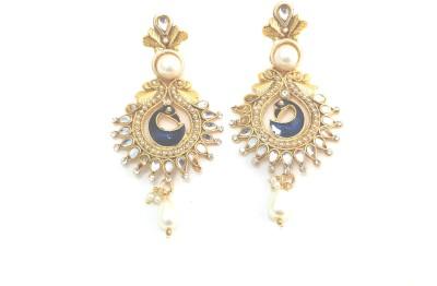Fashion Pitaraa Golden Sparkel Copper Drop Earring