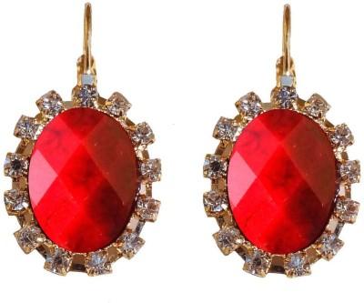 Shreya Collection Spring Sparkle-Maroon Alloy Drop Earring